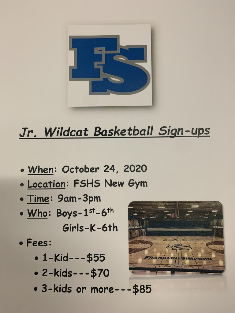 Jr. Wildcat Basketball Sign-Ups
