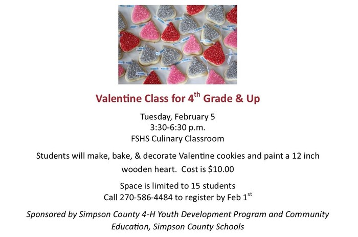 Valentine Class for 4th Grade & Up