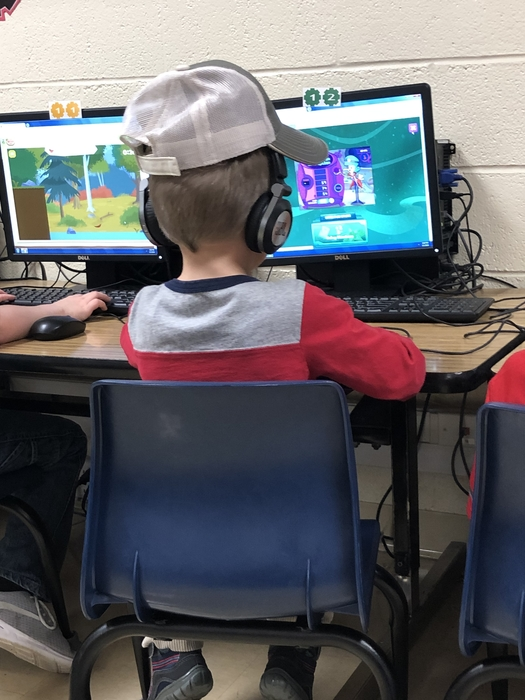 Hats in computer lab!