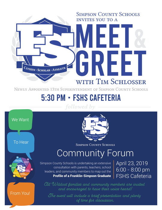 SCS Meet & Greet followed by Community Forum
