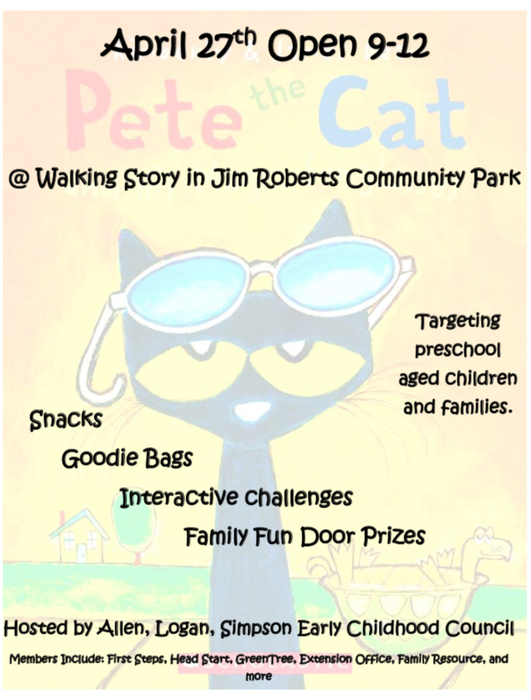 Pete the Cat! Enjoy the Walking Story!