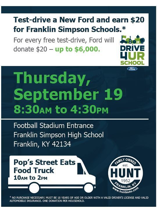 Drive 4UR School Event #huntfordchrysler