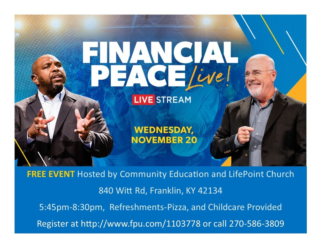 Financial Peace University, Live Stream FREE