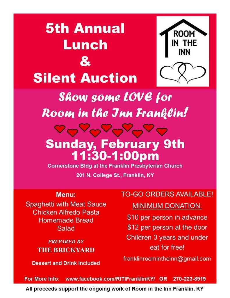 Room in the Inn Fundraiser Flyer