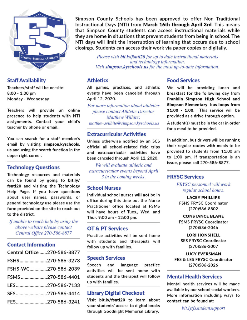 NTI One Pager