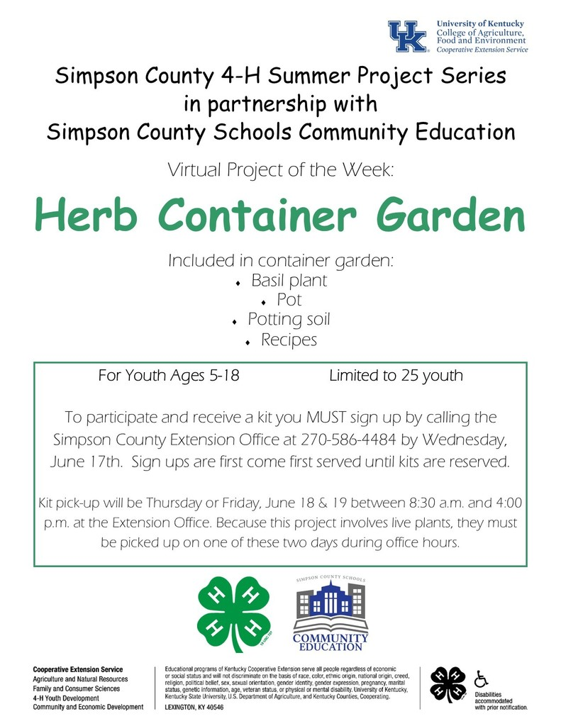 Herb Container Garden Workshop